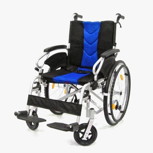 Aplus Wheelchair 16-inch Blue