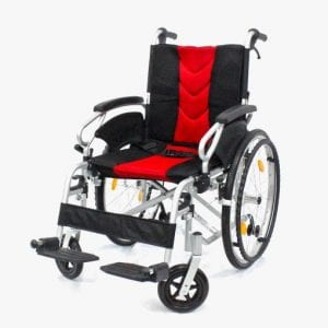 Aplus Wheelchair 18-inch Red