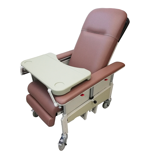 DNR Mobile Geriatric Chair with Drop Down Armrest full view