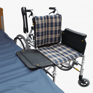 Miki Transfer Wheelchair flip up armrest