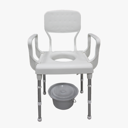 Rebotec Lyon Height Adjustable Commode Chair front view