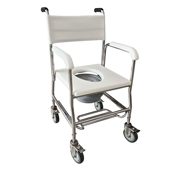 Stainless Steel Deluxe Commode