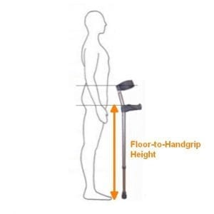 Elbow Crutches Height Sizing